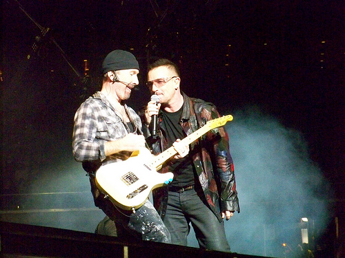 Bono and The Edge U2