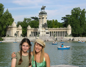 Jennifer and Katie in Madrid