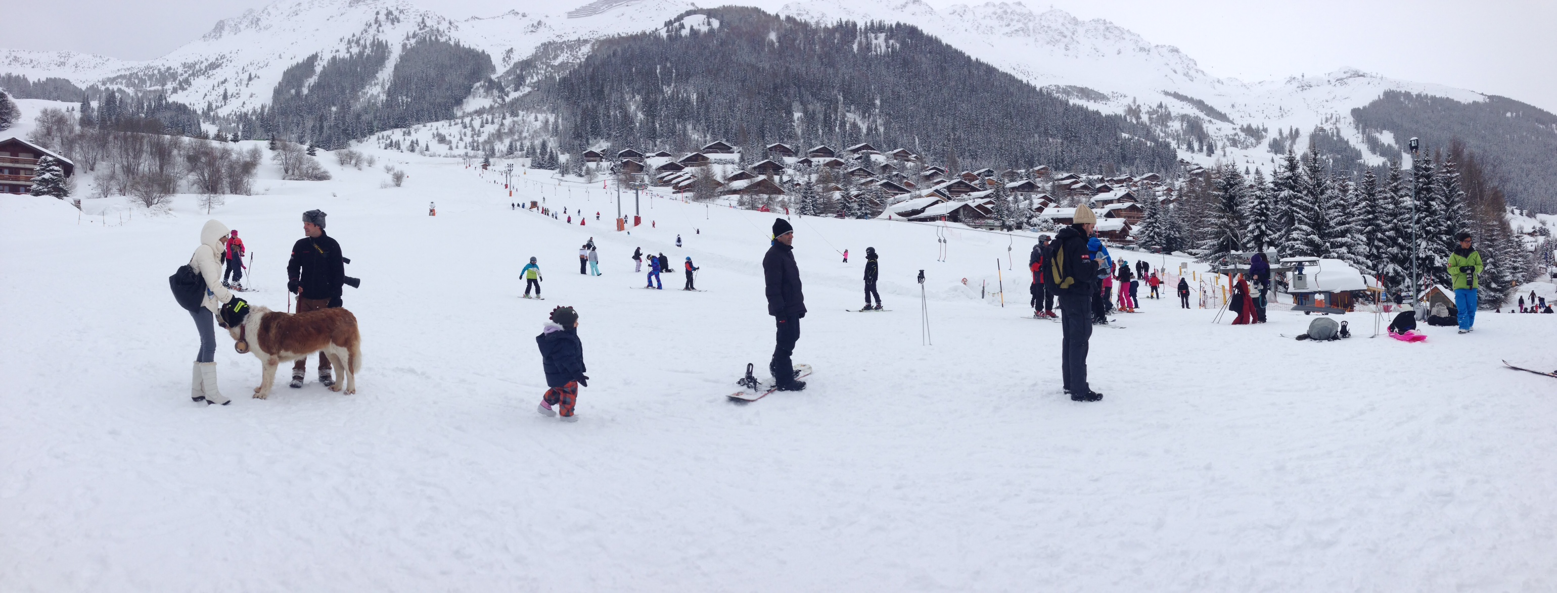 Skiing at Verbier